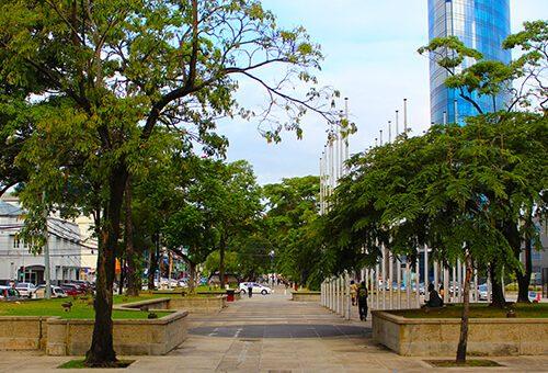 Brian Lara Promenade in Port of Spain Trinidad
