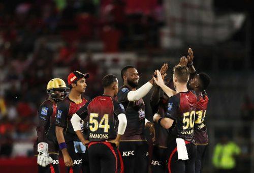 Trinbago Knight Riders playing CPL cricket in Trinidad